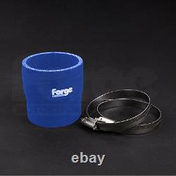 Forge Black Powder Coated Crossover Pipe + Blue Hose Ford Fiesta Mk7 ST180 1.6T