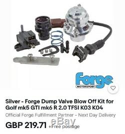 Forge Dump Valve Blow Off Kit For VW, Audi, Seat Silver