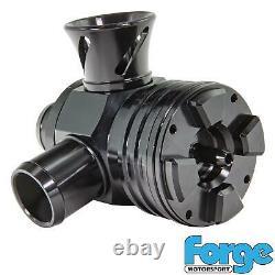 Forge Motorsport Black Splitter Recirculation & Blow Off Valve Kit fit 1.8T VAG