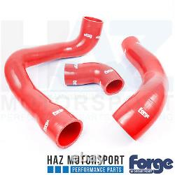 Forge Motorsport Silicone Turbo Boost Hoses + Clamps Ford Focus MK3 2.3 RS Red