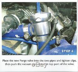 Forge Recirculation Dump Valve Audi TT MK1 1.8 Turbo FMDV008 Fast Response Black