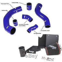 Forge Silicone Boost Hose Kit + Induction Intake Kit Ford Fiesta ST180 1.6T BLUE